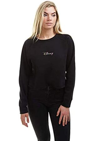 Disney Damen Sweatshirts - Damen Rainbow Logo Crew Cropped-Sweatshirt
