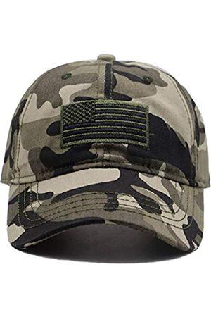 MANMESH HATT Herren Caps - Baseballkappe mit USA-Flagge, bestickt, verstellbar, gewaschen