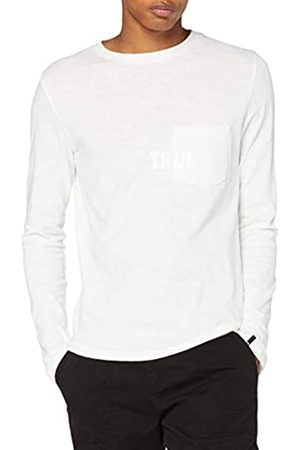 True Religion True Religion Herren Longsleeve T-Shirt, Weiss