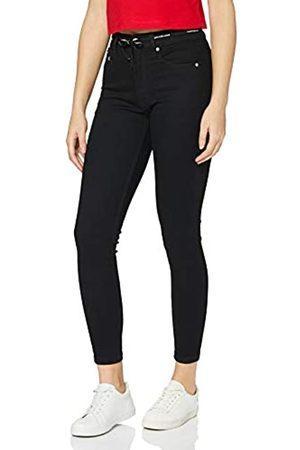 Calvin Klein Calvin Klein Jeans Damen High Rise Super Skinny Ankle Hose, Bb217-Rinse Black Lace Wb