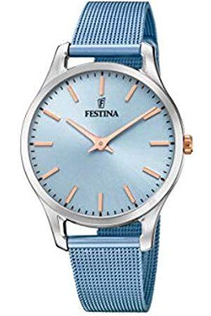 Festina Damen Analog Quarz Uhr mit Edelstahl Armband F20506/2