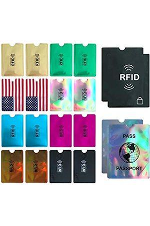 WUOJI RFID-blockierende Hüllen (Kreditkartenhalter und Reisepass-Schutz)