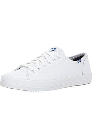 Keds Damen Kickstart Lea Blue Sneaker, (White)