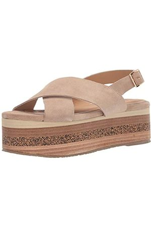 KAANAS Damen Bondi Crossover Platform Fashion Shoe Flache Sandale