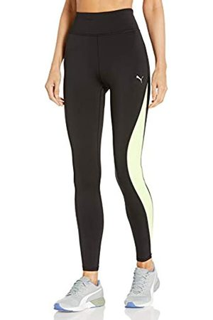 PUMA PUMA Damen Run Lite High Rise 7/8 Tights Leggings, Black-Fizzy Yellow