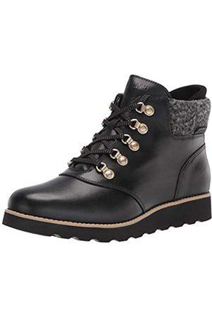 Cole Haan Damen NTKT RGD HKR BT:Black LTHR/BK Wool Wanderstiefel, Schwarzes WP-Leder/Schwarze rustikale Wolle