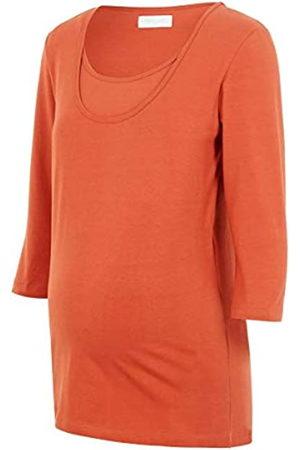 Mama Licious Damen MLLEA ORG Nell 3/4 Mix TOP NF 2PACK A. O T-Shirts, Auburn/Pack:Snow White W/Auburn Stripes