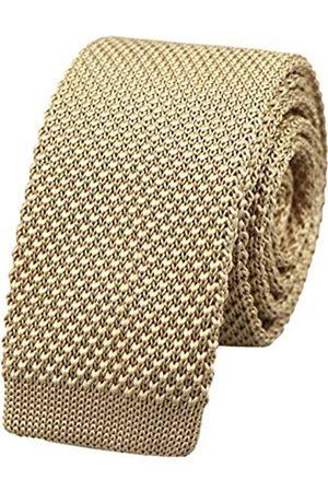 Kihatwin Herren Krawatten - Herren-Krawatte, einfarbig, Skinny Strickkrawatte, Vintage, elegant