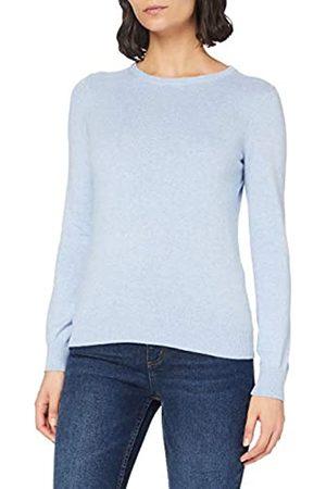 MERAKI Amazon-Marke: Baumwoll-Pullover Damen mit Rundhals, Blau (Ocean Blue), 36