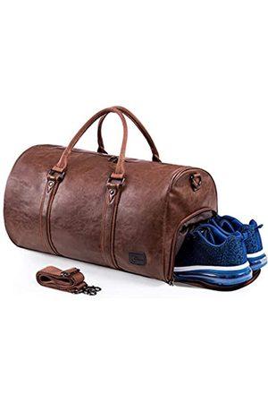 seyfocnia Seyfocnia Reisetaschen Herren Leder Wasserdicht Weekender Tasche Großen Kapazität Reisetasche Unisex Vintage Handgepäck Bag.