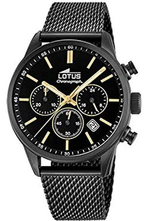 Lotus Herren Chronograph Quarz Uhr mit Edelstahl Armband 18700/2