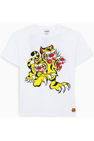 Kenzo White t-shirt with tiger patch