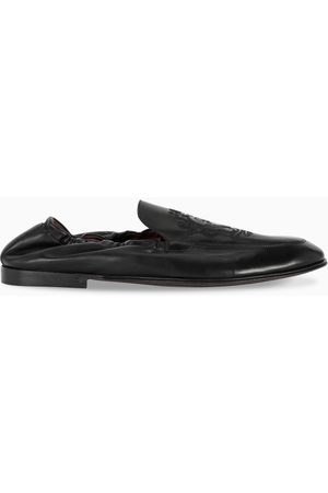 Dolce & Gabbana Black Plume slipper