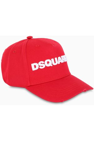 Dsquared2 Red baseball cap with logo