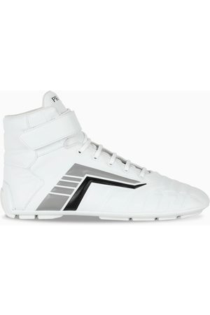 Prada White/grey Rev high-top sneakers