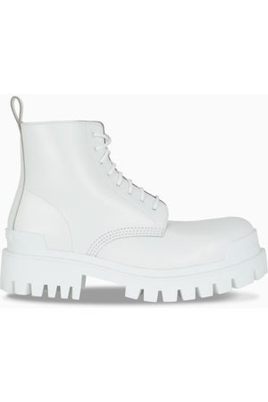 Balenciaga Herren Stiefel - White Strike lace-up boots