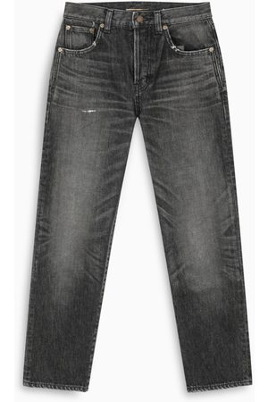 Saint Laurent Dirty Medium Black Denim slim jeans