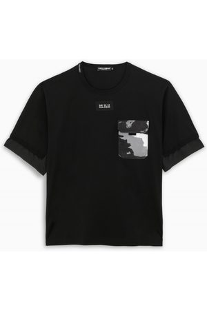 Dolce & Gabbana Black t-shirt with camouflage printed pocket