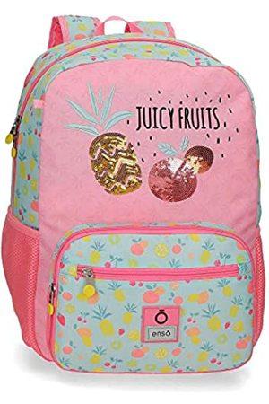 "Enso Enso Juicy Fruits Laptop-Rucksack für die Schule Mehrfarbig 32x42x14 cms Polyester 14"" 18.82L"