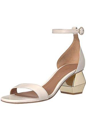 Emporio Armani Damen Nappa Leather Ankle Strap Sandal Pumps