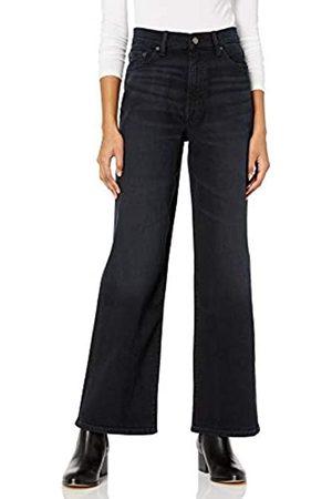 THE DROP Lizzy Damen Jeans mit Hoher Taille und Weitem Bein, Marine-Stil, Schwarz