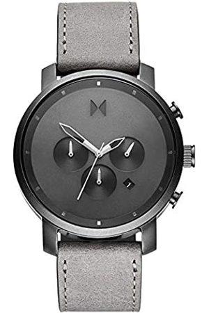 MVMT Herren Analoger Quarz Uhr mit Echtes Leder Armband D-MC02-BBLGR