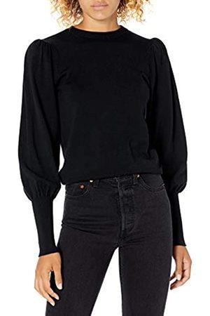 THE DROP Pullover Vivienne für Damen, mit Schulterpolstern, Rundhalsausschnitt und Ballonärmeln