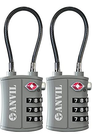 Anvil TSA Approved 3 Digit Luggage Cable Locks, Small Combination Padlock Ideal for Travel - 1