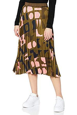 Scotch&Soda Maison Womens Plissierter Midirock mit Print Skirt