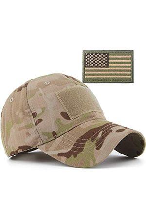 REDSHARKS Schlange Camouflage Camo Baseball Cap mit amerikanischer Flagge USA Tactical Operator Army Military Hat für Schießen