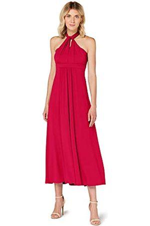 TRUTH & FABLE Amazon-Marke: Damen Maxi A-Linien-Kleid, (Fushia), 34