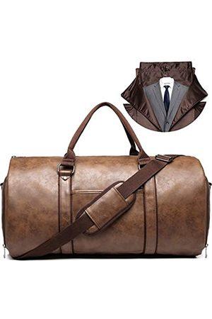 BOLOSTA Kleidertaschen für Reisen, Herren, Leder, tragbar, mit Schuhfach, wasserdicht, faltbar, tragbar