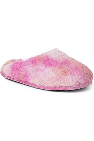 Dearfoams Damen Bailey Plush Furry Scuff Hausschuh