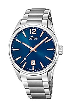 Lotus Herren Analog Quarz Uhr mit Edelstahl Armband 18692/2