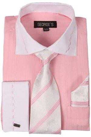George's George's Herrenhemd, zweifarbig, mit passender Krawatte