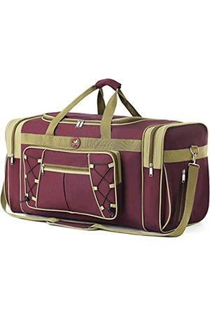 Spring Country Reisetasche für Frauen & Männer Faltbare Weekender-Reisetasche 65 cm Leichtes Oxford-Tuch Extra großes Sportgepäck Riesige Wasser- und Reißfestigkeit (Rot)
