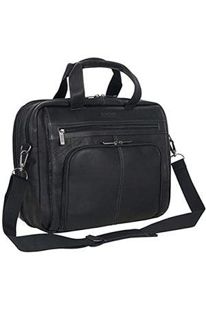 Kenneth Cole Kenneth Cole Reaction Out of The Bag Portfolio/Computertasche aus kolumbianischem Leder mit doppeltem Fach und Reißverschluss, passend für die meisten 15