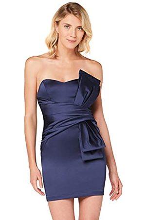 TRUTH & FABLE Amazon-Marke: Damen Schulterfreies Mini-Kleid aus Satin, 42