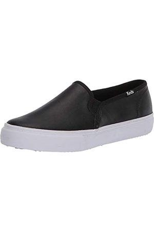 Keds Damen Double Decker Leather Sneaker, Black