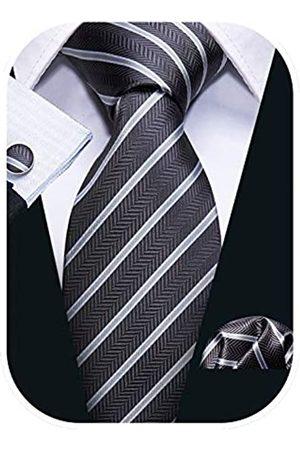 Barry.Wang Gestreifte Herren-Krawatten-Set