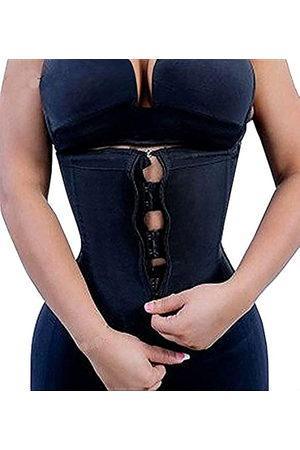 YIANNA Frauen Latex Unterbrust Taille Training Korsetts Cincher Reißverschluss & Haken Sanduhr Body Shaper - - X-Small