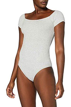MERAKI Amazon-Marke: Damen Body aus Baumwolle, Grau (Light Grey Marl), XL