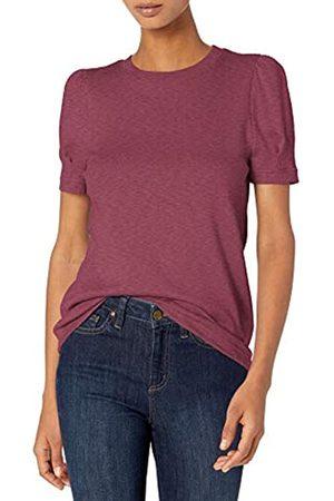 Daily Ritual Cotton Modal Stretch Slub Puff Sleeve T Athletic-Shirts