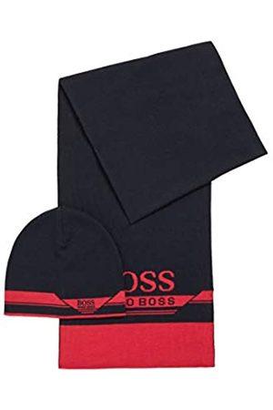 HUGO BOSS Herren Gift-Set Aura Set aus Schal und Mütze in einer Geschenkbox