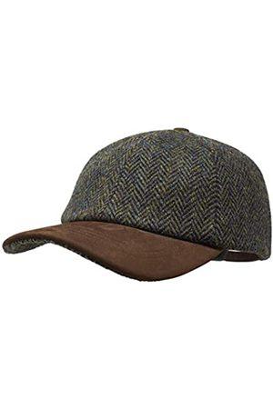 Borges & Scott Munro Baseball Cap - 100% Wolle - Harris Tweed – Schirm aus Nubuk Leder