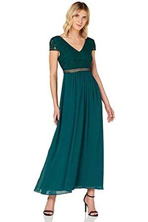 TRUTH & FABLE Damen Maxi Chiffon-Kleid mit A-Linie, (Deep Petrol), 38