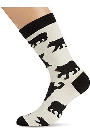 Hatley Herren, Sneakersocken, Mens Crew Socks Black Bears