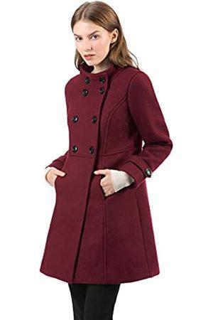 Allegra K Damen A Linie Stehkragen Knopfleiste Trenchcoat Mantel XL