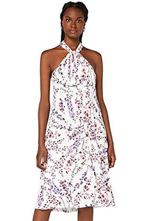 TRUTH & FABLE Amazon-Marke: Damen Hochzeitskleid Multiway Midi, Mehrfarbig (White Blossom), 46