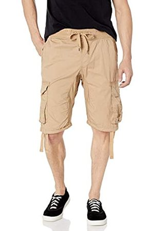 Southpole Young Herren Jogger Shorts mit Cargotaschen in Uni und Camo Farben - Braun - Large